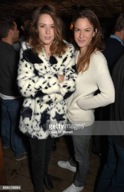 Caroline Lever and Fran Hickman attend a Grand Classics screening of Saturday Night Fever hosted by Sienna Miller in association with THE OUTNET at...