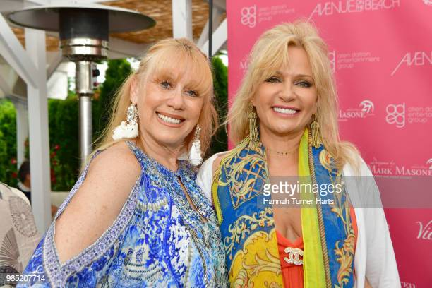 Caroline Lieberman and Leesa Rowland attend AVENUE on the Beach Celebrates Sailor Brinkley Cook And Our May/June Issue at Calissa on May 22 2018 in...