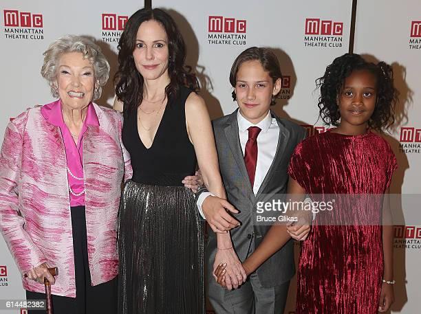Caroline Louise Morelli Parker daughter MaryLouise Parker son William Atticus Crudup and daughter Caroline Aberash Parker pose at The Opening Night...