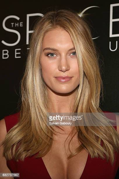 """Caroline Lowe attends STX Entertainment with The Cinema Society Host a Screening of """"The Space Between Us"""" on January 25, 2017 in New York City."""
