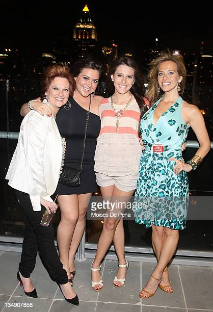 Caroline Manzo and daughter Lauren Manzo with Lexi Manzo and mother Dina Manzo attend the after party for the benefit performance of My Big Gay...