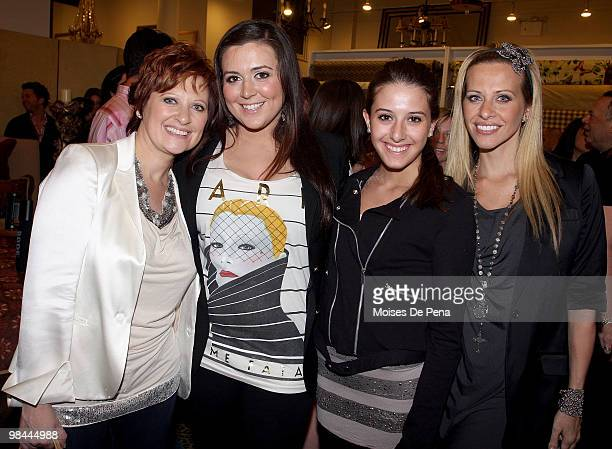 Caroline Manzo Lauren Manzo Lexi Manzo and Dina Manzo attend Jill Zarin's Secrets Of A Jewish Mother Book Launch Party at Zarin Fabrics on April 13...