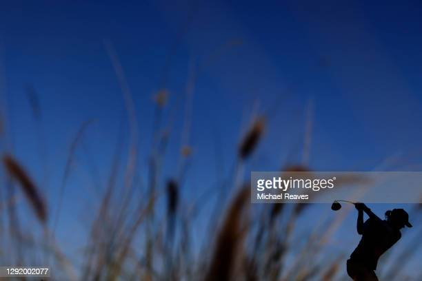 Caroline Masson of Germany plays her shot from the 13th tee during the second round of the CME Group Tour Championship at Tiburon Golf Club on...