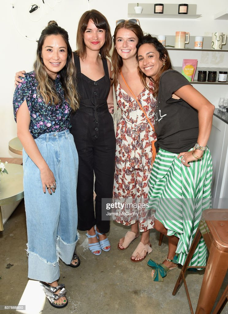 Caroline McGuire, Terri Wolfe and guests attend the Eberjey x Rebecca Taylor Launch Event at Chillhouse on August 23, 2017 in New York City.