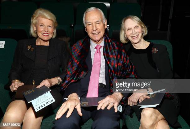 Caroline McKenzie Peter Georgescu and Barbara Georgescu attend the 2017 Steinberg Playwright Awards honoring Ayad Akhtar and Lucas Hnath at Lincoln...
