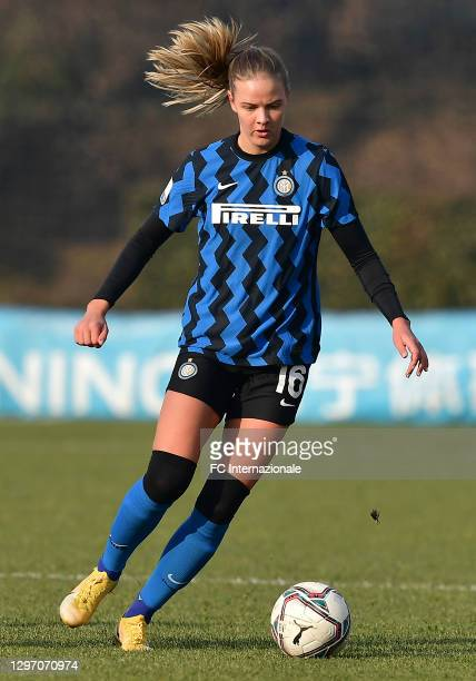 Caroline Moller Hansen of FC Internazionale in action during the Women Serie A match between FC Internazionale and Juventus at Suning Youth...