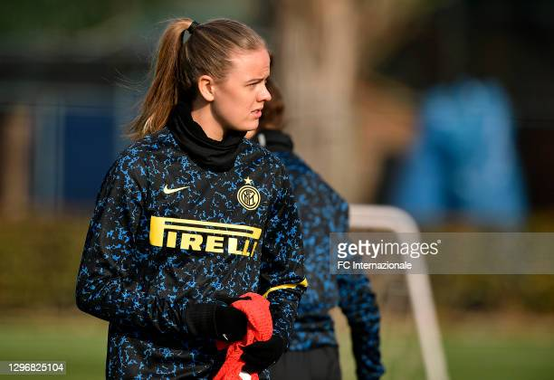 Caroline Moller Hansen of FC Internazionale looks on before the Women Serie A match between FC Internazionale and Juventus at Suning Youth...