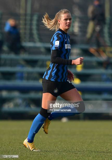 Caroline Moller Hansen of FC Internazionale looks on during the Women Serie A match between FC Internazionale and Juventus at Suning Youth...