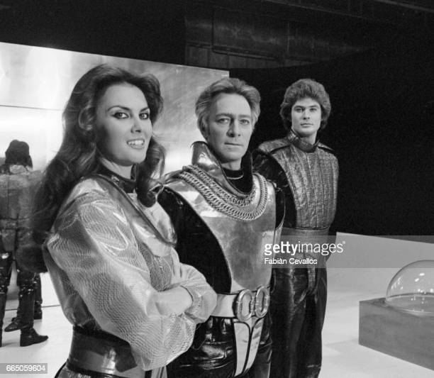 Caroline Munro Christopher Plummer and David Hasselhoff appear in the science fiction movie Starcrash by director Luigi Cozzi The Italian film...