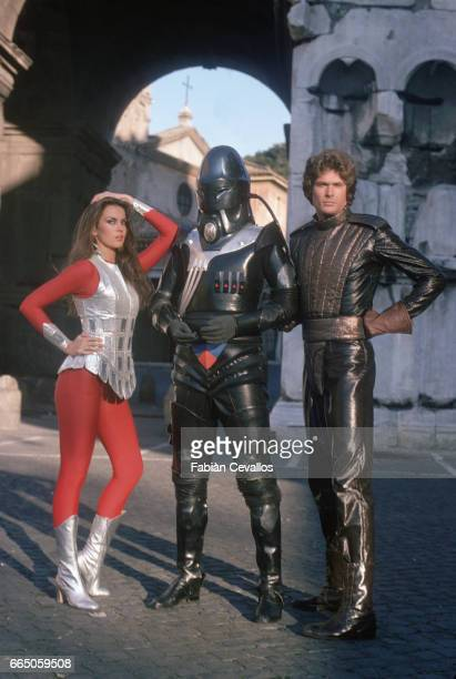 Caroline Munro Hamilton Camp and David Hasselhoff appear in the science fiction movie Starcrash by director Luigi Cozzi The Italian film released in...