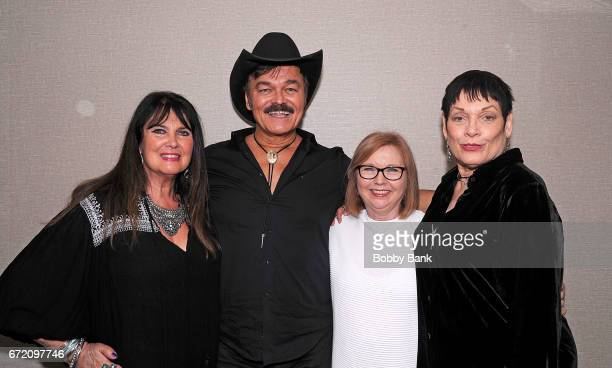 Caroline Munro Randy Jones Janina Faye and Martine Beswick attend Chiller Theatre Expo Spring 2017 Day 3 at Hilton Parsippany on April 23 2017 in...