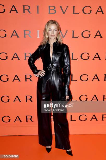 Caroline Murphy attends the Bvlgari Bzero1 Rock collection event at Duggal Greenhouse on February 06 2020 in Brooklyn New York