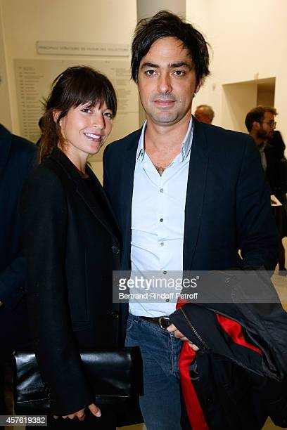 Caroline Nielsen and Charles Gillibert attend the 'Diner des Amis du Musee d'Art Moderne' at Musee d'Art Moderne on October 21 2014 in Paris France