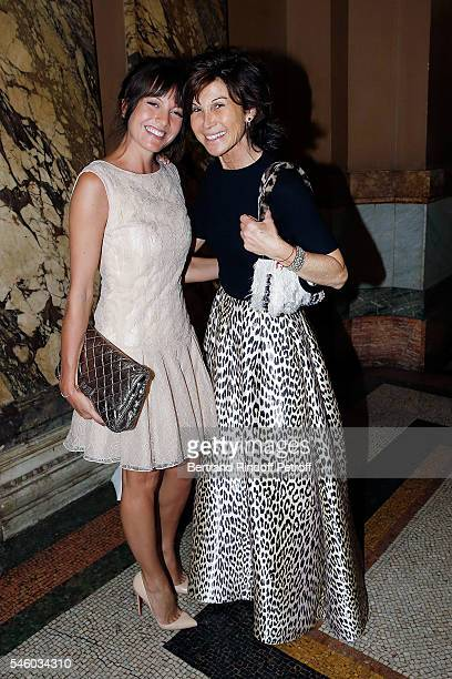 Caroline Nielsen and Sylvie Rousseau attend 'Vaincre Le Cancer' Charity Gala Night at Opera Garnier on July 10 2016 in Paris France