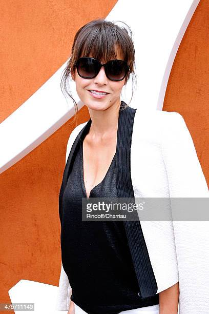 Caroline Nielsen attends the 2015 Roland Garros French Tennis Open Day Eleven on June 3 2015 in Paris France