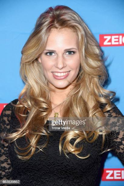 Caroline Noeding aka Julia Jule Klaasen poses during the 'Koeln 50667' Fan Party on April 1 2017 in Cologne Germany