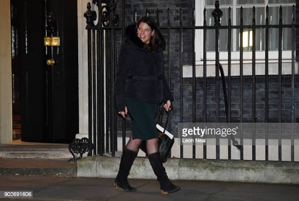 Caroline Nokes arrives at 10 Downing Street after being appointed as Minister of State for Immigration as Prime Minister Theresa May reshuffles her...