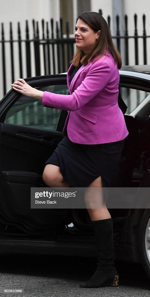 Caroline Nokes the Minister of State for Immigration arrives as government ministers attend the first Cabinet meeting of the year at 10 Downing Street on January 9, 2018 in London, England.