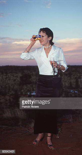 12 DECEMBER 1999 Caroline O'Connor at the Cats Run Away to the Circus gala evening in the majestic Cats Big Top in the shadows of Uluru Northern...