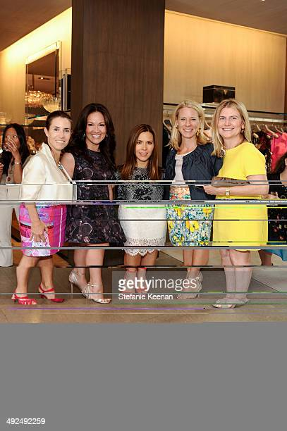 Caroline O'Donnell Bui Simon Monique Lhuillier Dana Fentress and Jeanne Robinson attend Monique Lhuillier Pre Fall Lunch on May 20 2014 in Los...