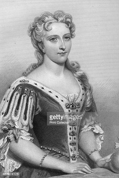 Caroline of Brandenburg-Ansbach , queen consort of King George II, 1851. From Biographical Sketches of the Queens of Great Britain, from the Norman...