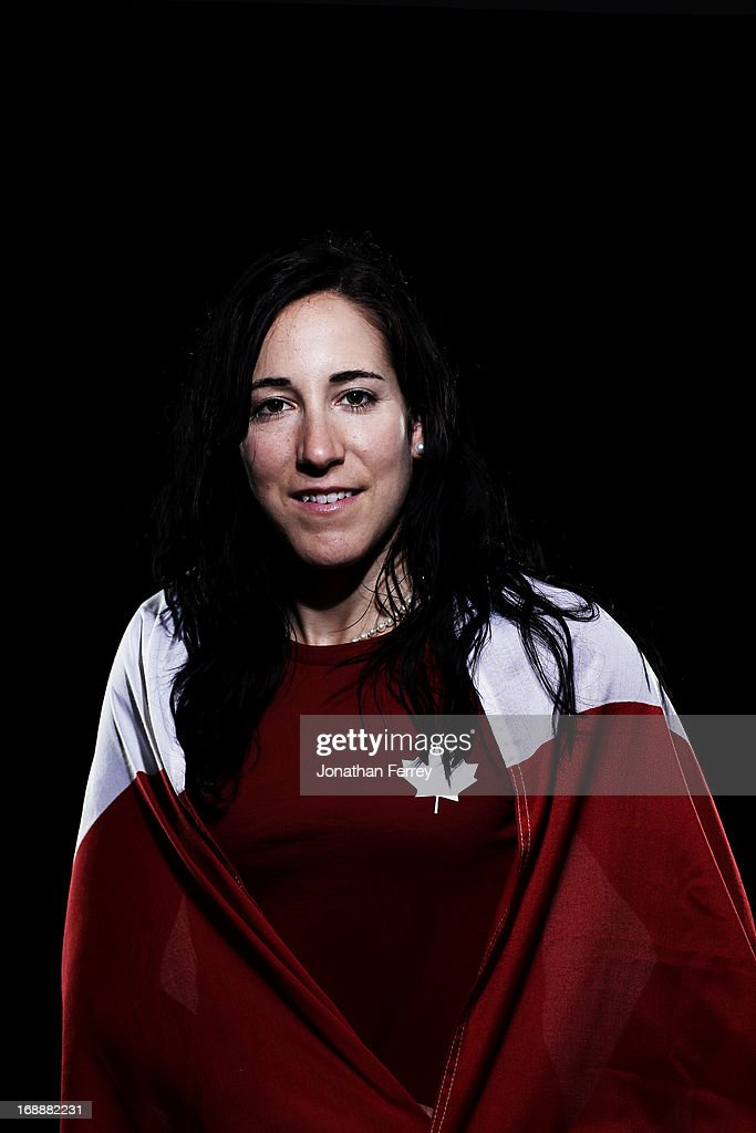 Caroline Ouellette poses for a portrait during the Canadian Olympic Committee Portrait Shoot on May 13, 2013 in Vancouver, British Columbia, Canada.