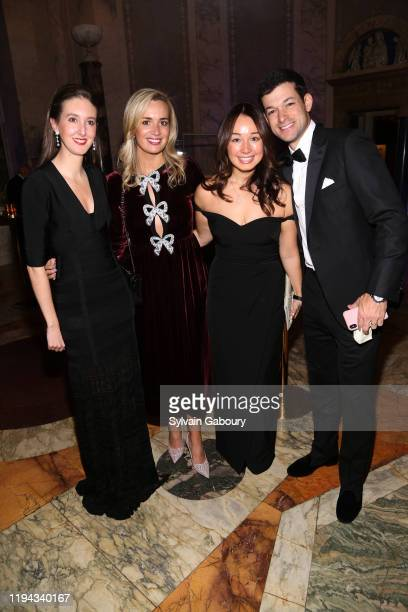 Caroline Parker Chelsea Clifford Katie Selby and Adam Parker attend The Morgan Library Museum Annual Evening Benefit at The Morgan Library Museum on...