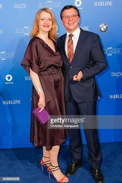 Caroline Peters and Volker Herres attends the Blue Hour Reception hosted by ARD during the 66th Berlinale International Film Festival Berlin on...