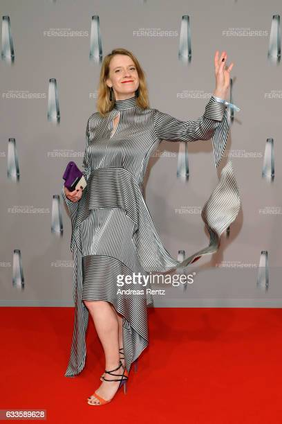 Caroline Peters attends the German Television Award at Rheinterrasse on February 2 2017 in Duesseldorf Germany