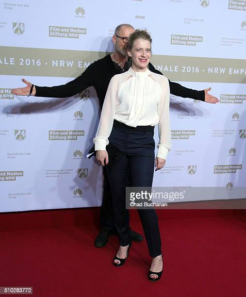 Caroline Peters attends the NRW Reception at the Landesvertretung during the 66th Berlinale International Film Festival on February 14 2016 in Berlin...