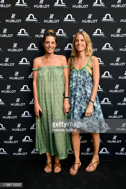 Caroline Petit and Alix Petit attend the launch of Hublot x Champion Spirit on June 27 2019 in Paris France