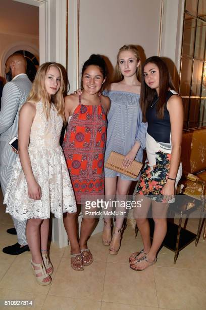 Caroline Philipson Julia Demeritt Chloe Lahockey and Chloe Peebles attend Katrina and Don Peebles Host NY Mission Society Summer Cocktails at Private...