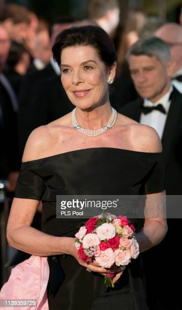 Caroline, Princess of Hanover attends the Rose Ball 2019 to benefit the Princess Grace Foundation on March 30, 2019 in Monaco, Monaco.