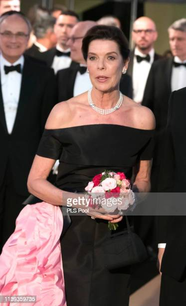 Caroline Princess of Hanover attends the Rose Ball 2019 to benefit the Princess Grace Foundation on March 30 2019 in Monaco Monaco