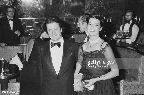 Caroline Princess of Hanover with her fiance French banker Philippe Junot attending a party UK 22nd December 1978