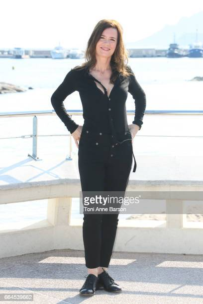 Caroline Proust attends Engrenages Photocall on April 3 2017 in Cannes France