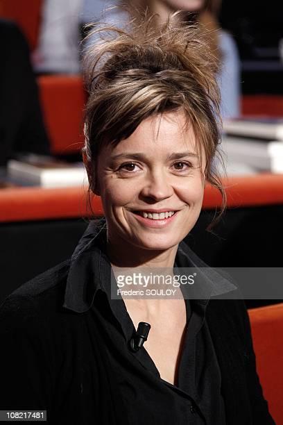Caroline Proust attends the Au Field de la Nuit TV show on January 13 2011 in Paris France