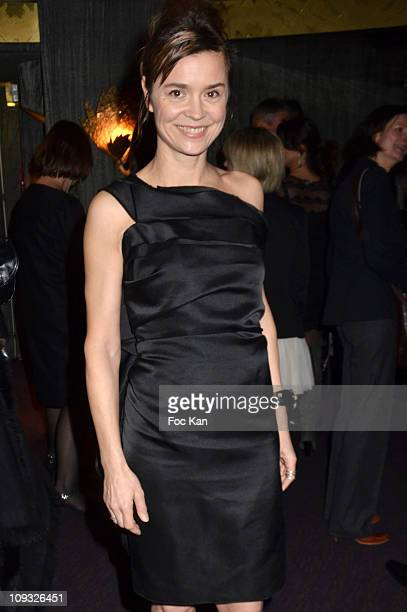 Caroline Proust attends the Globes de Cristal 2011 Awards at Le Lido on February 7 2011 in Paris France