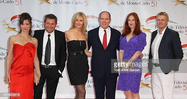 Caroline Proust presenter Jerome Anthony TV presenter Sandrine Corman Pirnce Albert II of Monaco actors Audrey Fleurot and Xavier Deluc arrive at the...