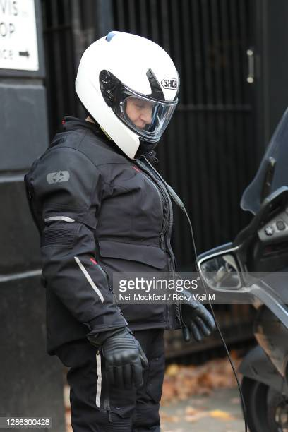Caroline Quentin from Strictly Come Dancing 2020 seen arriving at a rehearsal studio on November 18, 2020 in London, England.