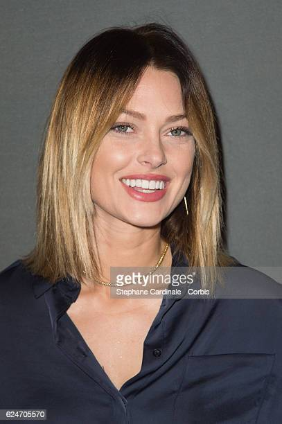 Caroline Receveur attends the Allied Allies Paris Premiere at Cinema UGC Normandie on November 20 2016 in Paris France