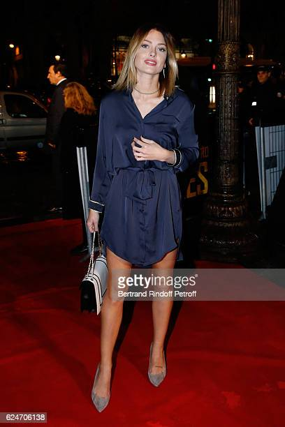 Caroline Receveur attends the 'Allied Allies' Paris Premiere at Cinema UGC Normandie on November 20 2016 in Paris France