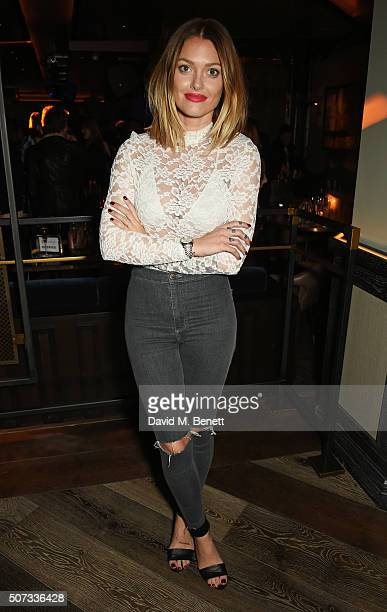Caroline Receveur attends the launch of 100 Wardour St on January 28 2016 in London England