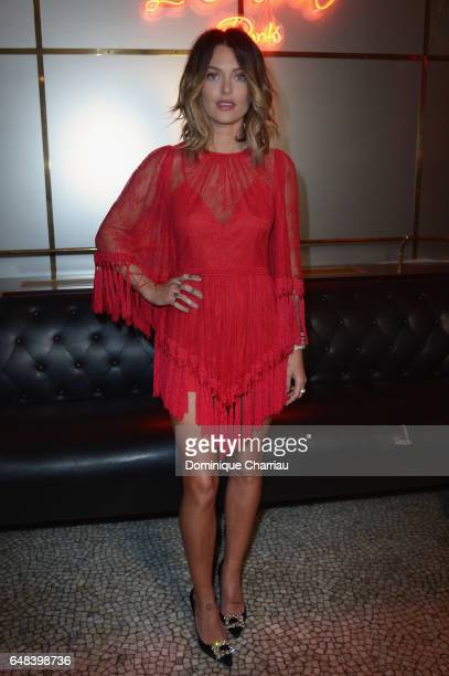 Caroline Receveur attends the L'Oreal Paris Dinner Hosted By Julianne Moore as part of the Paris Fashion Week Womenswear Fall/Winter 2017/2018 on...
