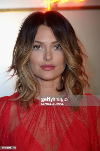 Caroline Receveur attends the 'L'Oreal Paris Dinner Hosted By Julianne Moore' as part of the Paris Fashion Week Womenswear Fall/Winter 2017/2018 on...