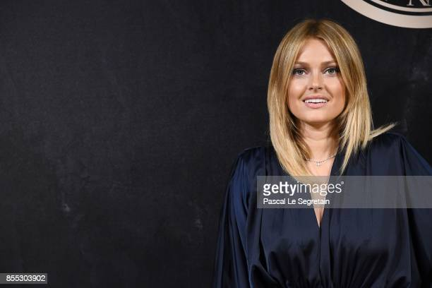 Caroline Receveur attends the L'Oreal Paris X Balmain event as part of the Paris Fashion Week Womenswear Spring/Summer 2018 on September 28 2017 in...
