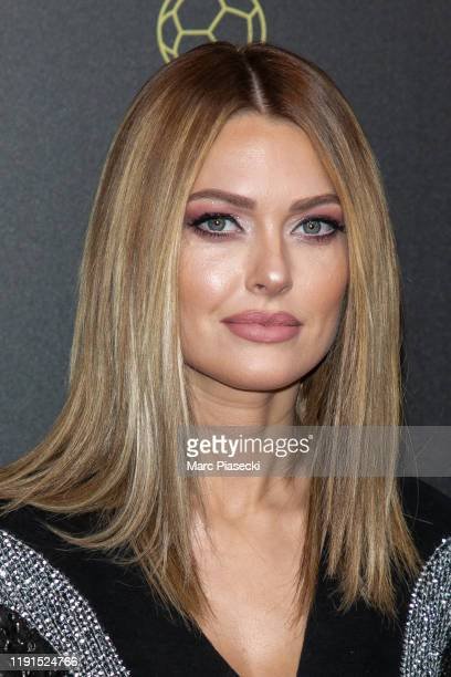Caroline Receveur attends the photocall during the Ballon D'Or Ceremony at Theatre Du Chatelet on December 02 2019 in Paris France