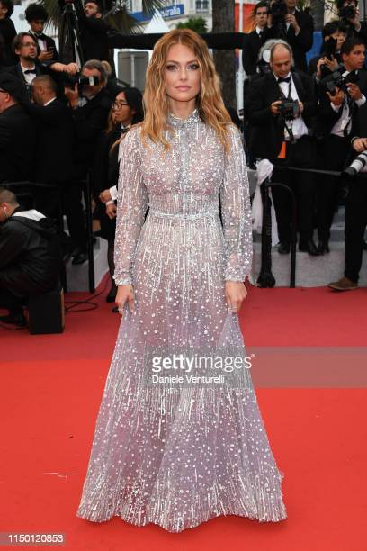 Caroline Receveur attends the screening of Les Plus Belles Annees D'Une Vie during the 72nd annual Cannes Film Festival on May 18 2019 in Cannes...