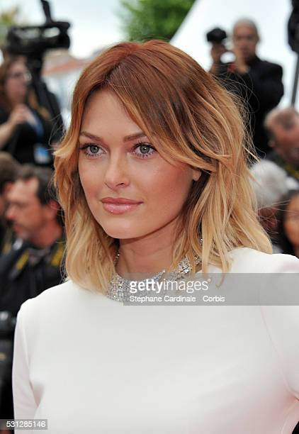 Caroline Receveur attends the 'Slack Bay ' premiere during the 69th annual Cannes Film Festival at the Palais des Festivals on May 13 2016 in Cannes...