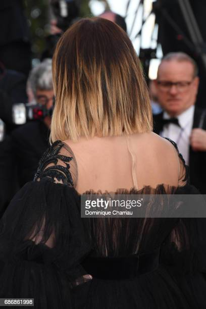Caroline Receveur back detail attends the 'The Killing Of A Sacred Deer' screening during the 70th annual Cannes Film Festival at Palais des...